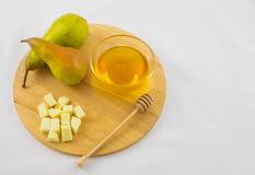 Груши, сыр и мед Стоковые Фотографии RF