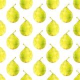 груши fruits pattern seamless Нарисованный вручную Стоковая Фотография