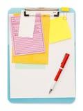 Грязная доска сзажимом для бумаги Стоковое Изображение
