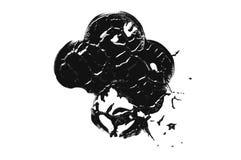 Грязная предпосылка чернил Черным по белому текстура конспект текстурировал стоковое фото