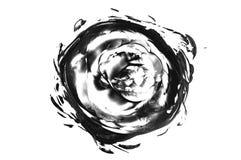 Грязная предпосылка чернил Черным по белому текстура конспект текстурировал стоковые фото