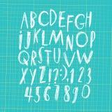 Грязное нарисованное рукой ballpen письма и диаграммы Стоковая Фотография RF