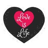 Грязной плакат нарисованный рукой романтичный Стоковое Изображение