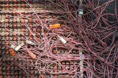 Грязные кабели Стоковое Фото