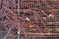 Грязные кабели Стоковые Фото