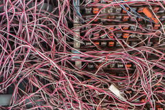Грязные кабели Стоковые Изображения RF