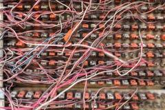 Грязные кабели Стоковые Изображения