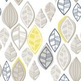 Грязные цветастые ретро листья Стоковое фото RF