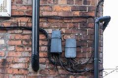 Грязные электрические кабели Стоковое Фото