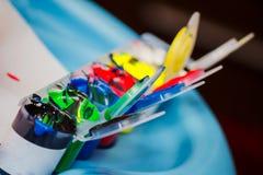 Грязный комплект краски детей s Стоковые Изображения RF