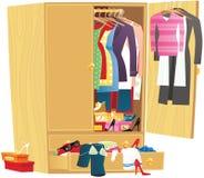 Грязный шкаф одежды Стоковое Фото