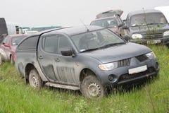 грязь автомобиля с дороги Стоковое Изображение