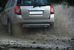 грязь автомобиля с дороги Стоковые Фото