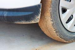 грязь на колесе стоковая фотография