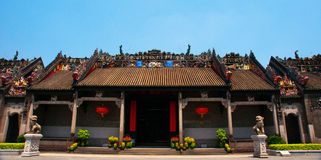 Гуанчжоу, Китай, академия клана Chen старинных зданий Стоковая Фотография