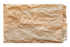 Губительно коричневой бумажной изолированной сумки Стоковые Изображения
