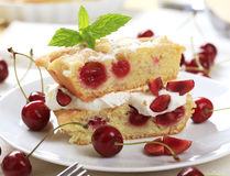 губка вишни торта Стоковое фото RF