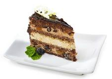 губка десерта шоколада торта Стоковая Фотография