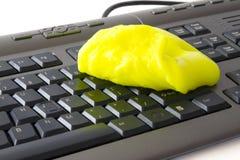 губка клавиатуры чистки Стоковое Фото