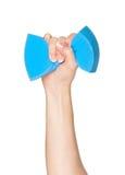 губка кухни руки Стоковое Фото