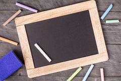 Губка классн классного фиолетовая и белый мел Стоковая Фотография RF