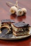 губка макового семенени сливы варенья торта Стоковые Фото