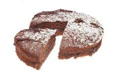 губка отрезока шоколада торта стоковые изображения