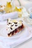 губка сливк вишни торта Стоковая Фотография RF