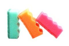 Губки кухни изолированные на белизне Стоковые Изображения RF
