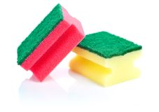 губки кухни Стоковое Фото