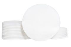 Губки хлопка чистоты на белой предпосылке Стоковое Изображение RF