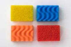 Губки чистки для моя блюд Стоковые Изображения RF