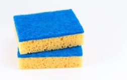 2 губки для моя блюд Стоковая Фотография RF