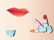 губная помада губы Стоковые Фотографии RF