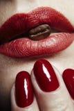 губная помада губ кофе Стоковая Фотография RF