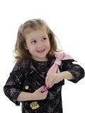 губная помада девушки ребенка немногая довольно Стоковая Фотография RF