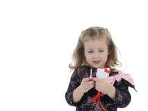 губная помада девушки ребенка немногая довольно Стоковая Фотография