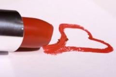губная помада сердца Стоковая Фотография