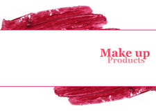 Губная помада цвета смазанная для дизайна знамени с космосом для текста Стоковое Изображение