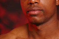 губы афроамериканца Стоковые Фото