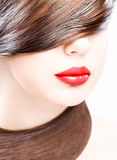 губы волос стоковые фото