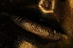 губы девушки молодые Стоковые Изображения RF