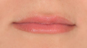 Губы девушки Стоковое Изображение RF