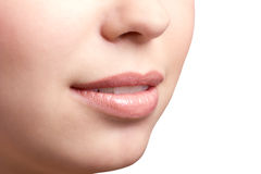 Губы женщины Стоковое Изображение RF