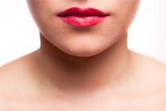 губы изрекают красный цвет Стоковые Фотографии RF
