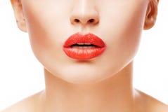 губы красные стоковая фотография