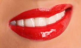 губы красные стоковые фото