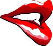 губы красные иллюстрация штока