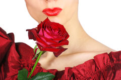 губы красные Стоковые Изображения RF