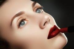 Губы красоты Красивые губы конец-вверх, отличная идея для adverti Стоковое фото RF